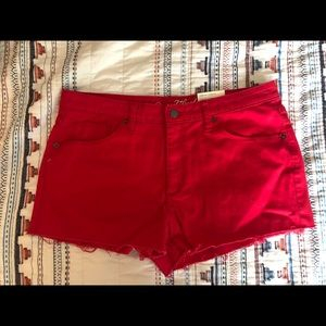 Universal thread high rise shortie shorts